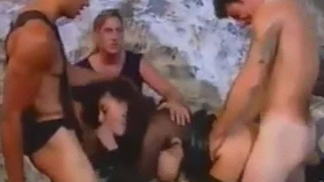 Retro gangbang video
