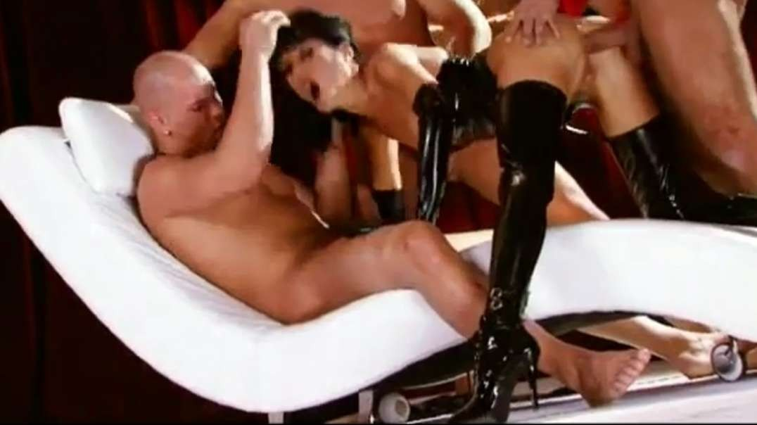 Double penetrated gangbang latex