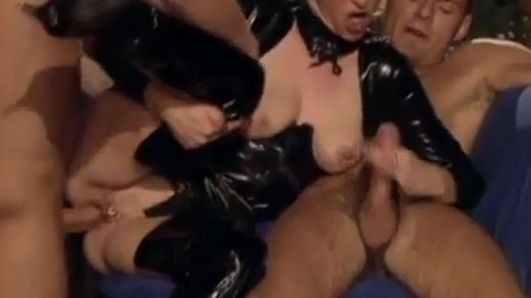 Hot slut in PVC is fucked hard