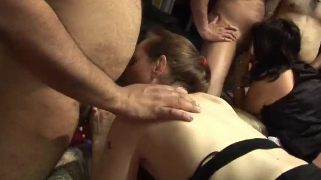Chubby and thin matures rimmed and fucked