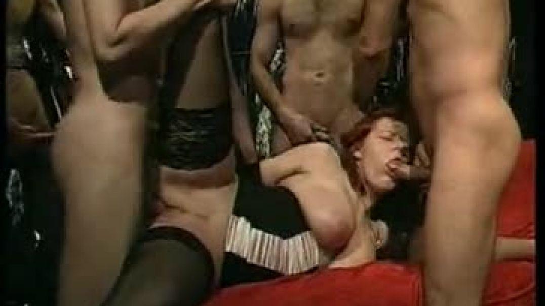 Mature Gangbang Orgy