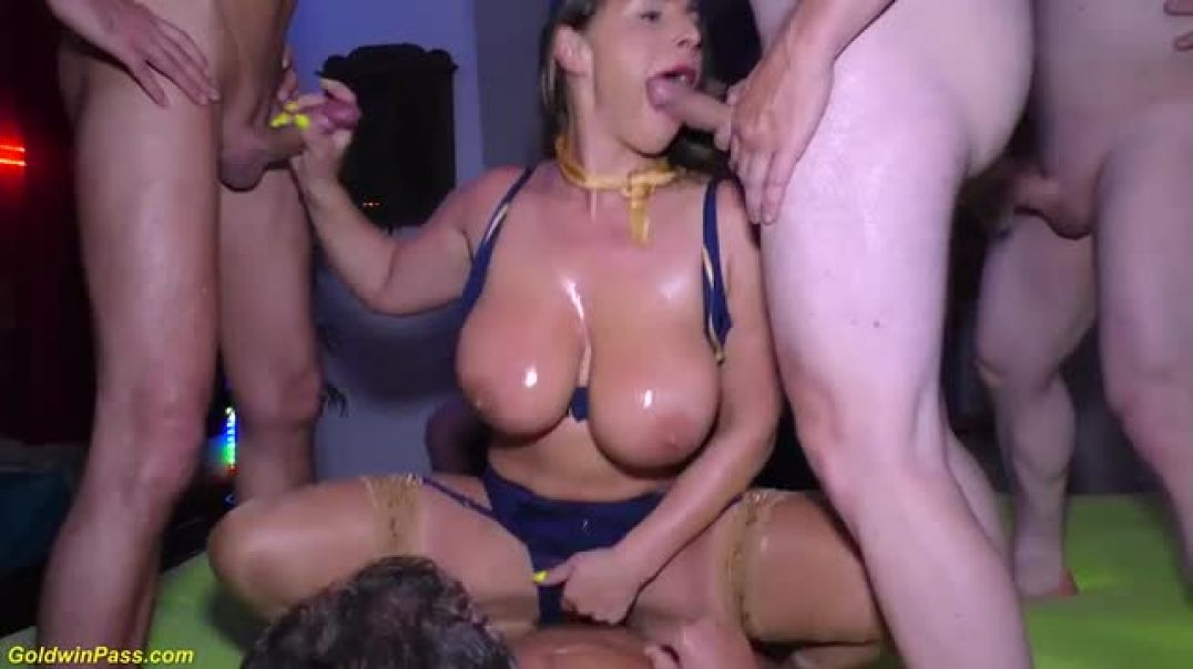 Gangbang party with stewardess sexy susi