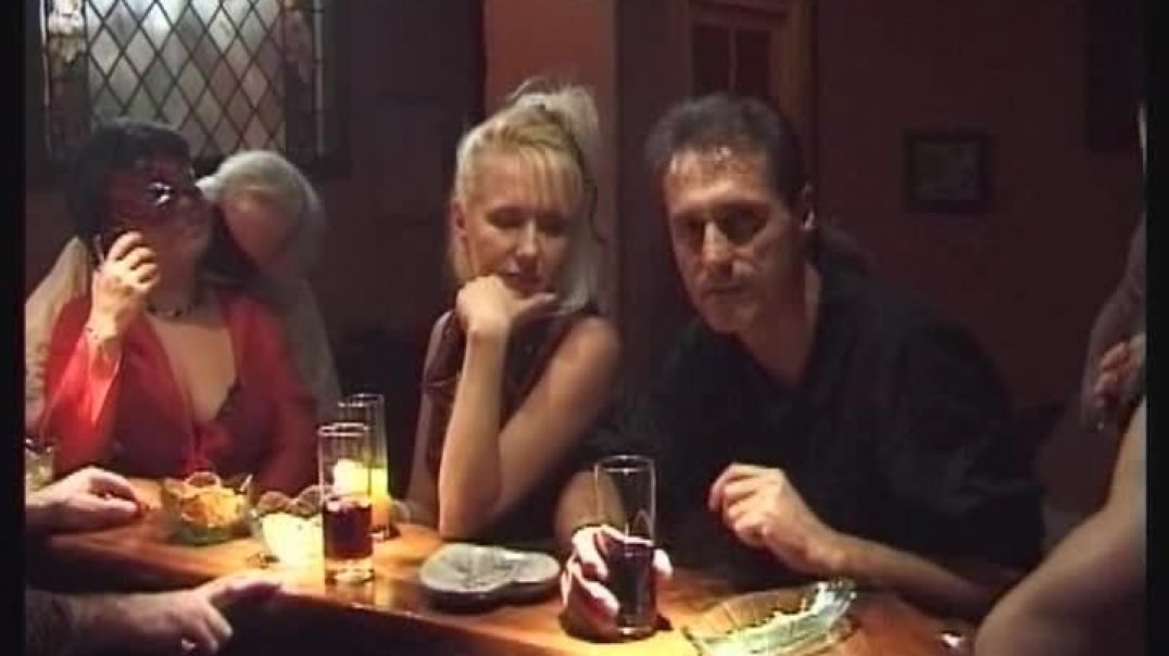 Horny swinger fuck orgy in the bistro