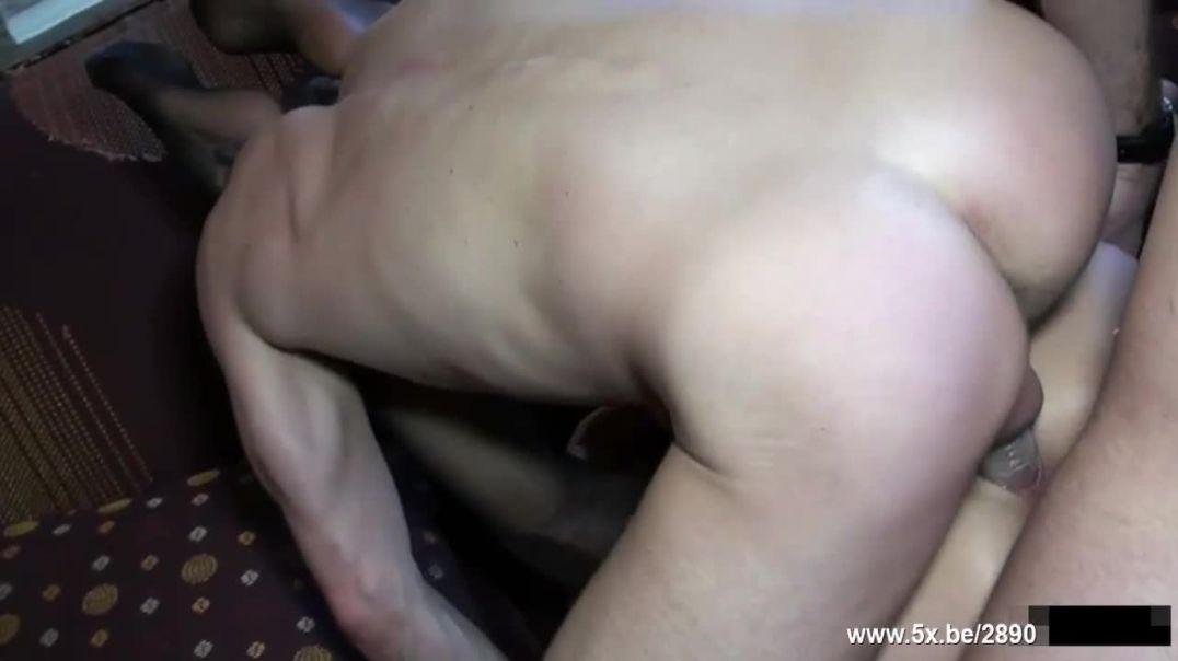 Clanddi takes triple penetration in a gangbang